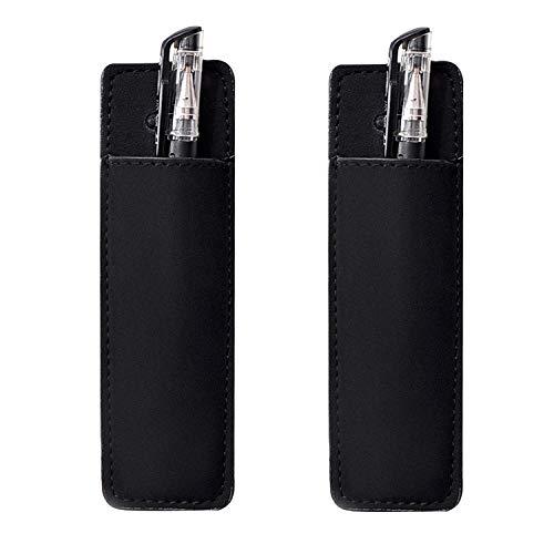 HOLDM Magnetic Leather Pen Holder Marker Pouch for Refrigerator or Metallic Surfaces 2 PCS Pen Holder