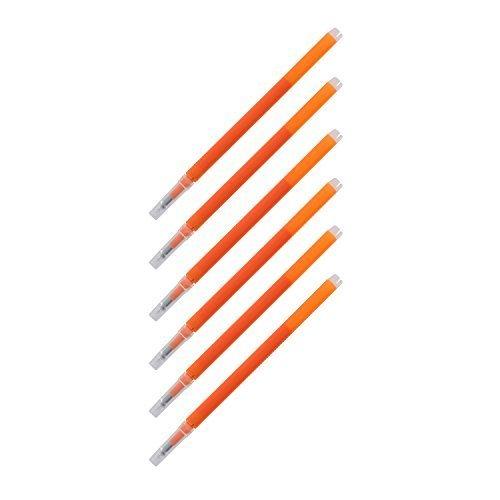 Pilot FriXion Eraseable Gel Ink Pen Refills Fine Point Orange Ink Pack of 6