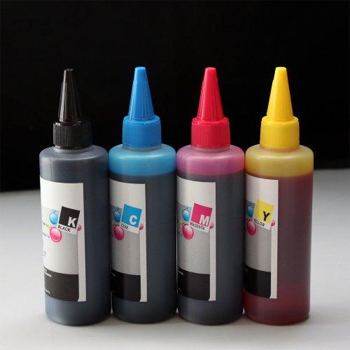 Compatible CISS Refill Ink Bottles400ml 100ml Per Color LC75 for Brother MFC J280W J425W J430W J435W J5910DW J625DW MFC-J6510DW J6710DW J6910DW J825DW J835DW