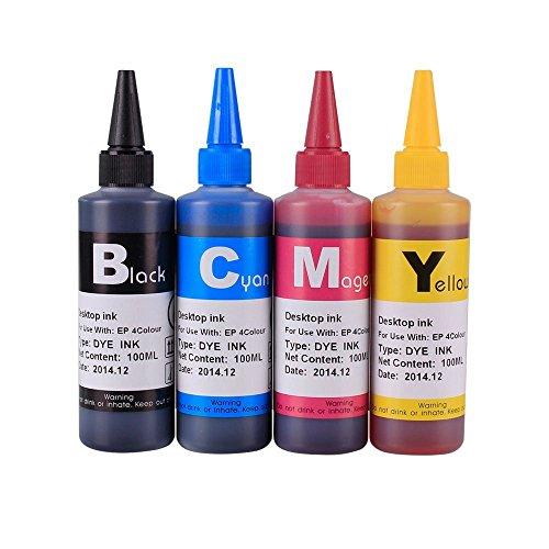 INKOA TM INK Refill Bottle SET 400ml for Stylus T060 C88 Stylus CX7800 Stylus C88 Stylus CX4200 Stylus CX5800f Stylus CX3800 Stylus C68 Stylus CX4800 Stylus CX3810