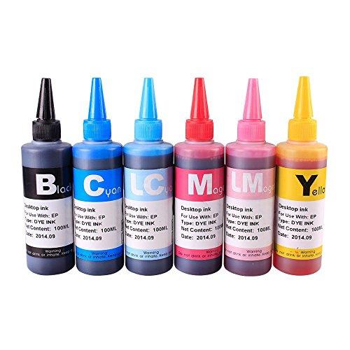 INKOA TM INK Refill Bottle SET 600ml for T079 R260 R265 R270 R280 R285 R290 R360 R380 R390 R560 RX580 RX590 RX595 RX680 1400 1410 1390 Artisan 1430
