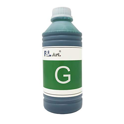P&L ART PFI-706G Inkjet Ink Refill Bottles 1000ML Pigment Ink 100 Compatible for Canon Printer iPF8400 iPF9400 Green