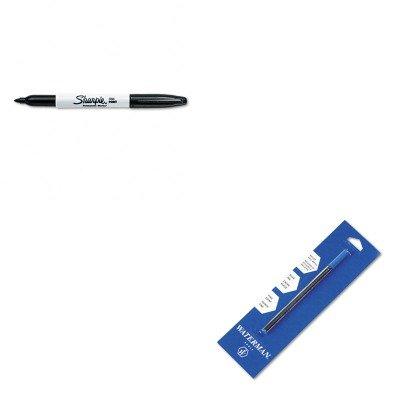 KITSAN30001WAT54096P - Value Kit - Waterman Refill for Waterman Roller Ball Pens WAT54096P and Sharpie Permanent Marker SAN30001