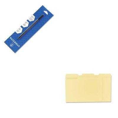 KITUNV12113WAT540951PP - Value Kit - Waterman Refill for Waterman Roller Ball Pens WAT540951PP and Universal File Folders UNV12113