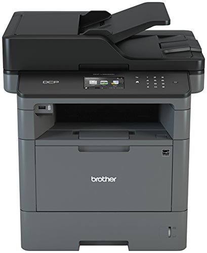 Brother Monochrome Laser Printer Multifunction Printer and Copier DCP-L5500DN Flexible Network Connectivity Duplex Printing Mobile Printing Scanning Amazon Dash Replenishment Enabled