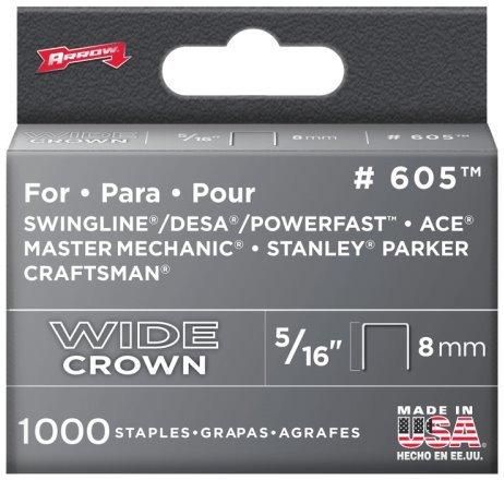 5 Pack Arrow Fastener 605 516 Heavy Duty Wide Crown Staples 1000 per Package