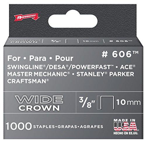 Arrow Fastener 60630 38 Wide Crown Heavy Duty Staples
