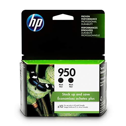 HP 950  2 Ink Cartridges  Black  CN049AN